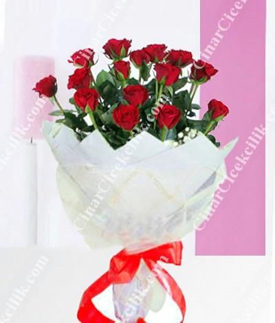 Kalbimdesin Kırmızı Gül Buketi C-BUK116