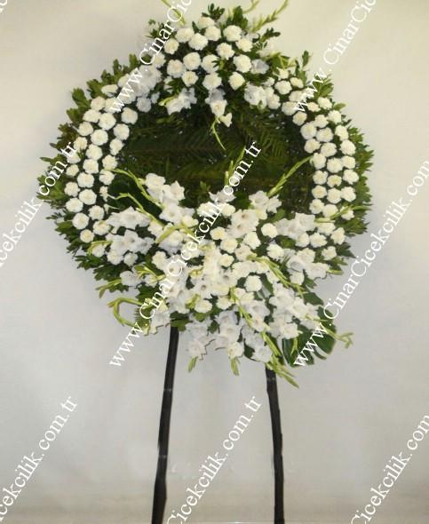 Beyaz Karanfil Cenaze Çelengi