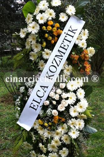 Beyaz Gerbera Gül Düğün Nişan Ferorje Çiçekleri