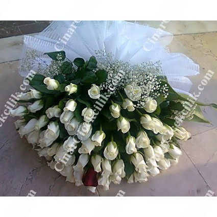 Zarif Sevgi Beyaz Gül Buketi C-BUK128