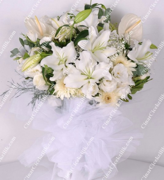Beyaz Peri  Çiçek Buketi C-BUK140