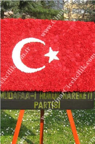 Türk Bayraklı Arma Cenaze Çiçeği