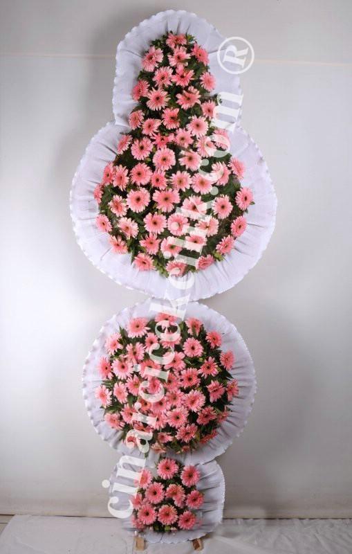 3 Katlı Pembe Düğün Açılış Nikah Çelenk Çiçekleri