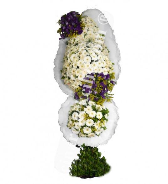 Çift Katlı Beyaz Gerbera Düğün Nişan Açılış Çiçekleri