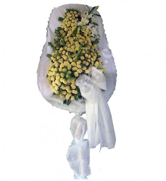 Tek Katlı Beyaz İnci Düğün Açılış Nikah Çelenkleri