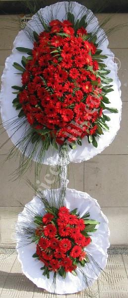 Çift Katlı Kırmızı İnci Düğün Acılış Nişan Çelenk