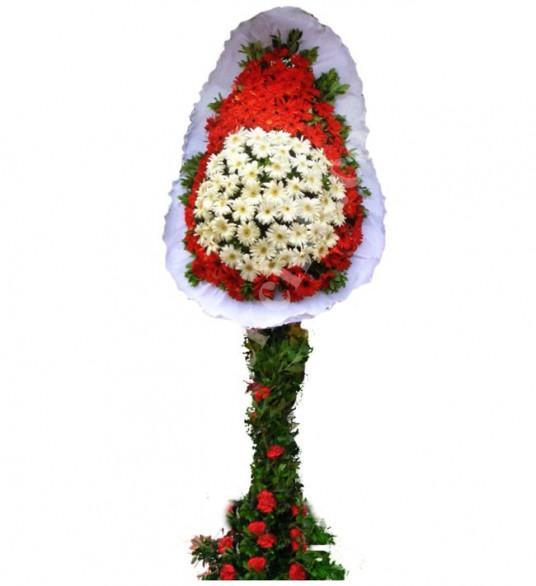 Tek Katlı Kırmızı Beyaz Düğün Açılış Nikah Çiçeği