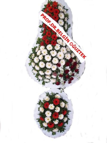 Çift Katlı Kırmızı Beyaz Düğün Nişan Çiçeği