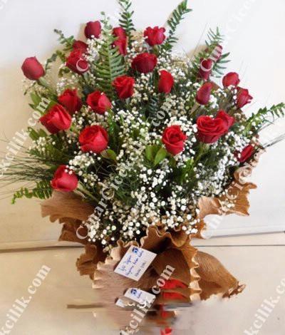 Biricik Aşkıma Kırmızı Gül Buketi C-BUK109