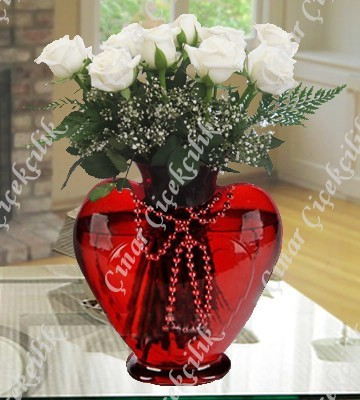 Kalbimin Sahibine 9 Beyaz Gül
