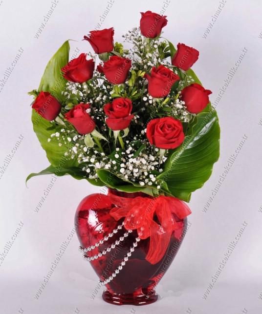 Romantik Sevgili 11 Kırmızı Gül C-KLP111