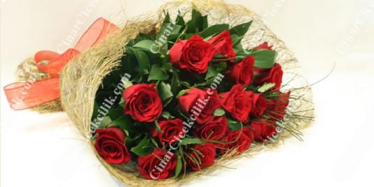 Seni Seviyorum Kırmızı Gül Buketi