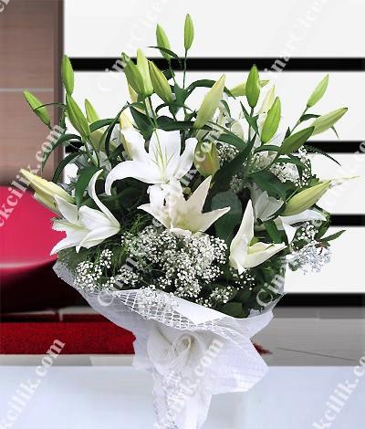 Aşk Rüzgarı Lilyum Çiçek Buketi C-BUK144