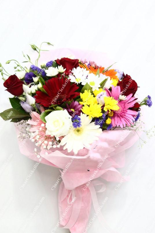 Sevgi Mutluluk Mevsim Kır Buketi