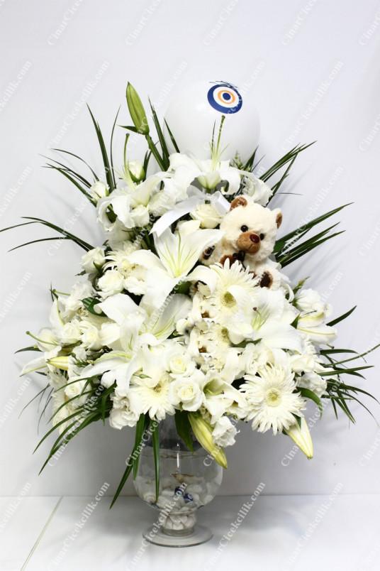 Beyaz Düş Çiçek Aranjman C-AR112