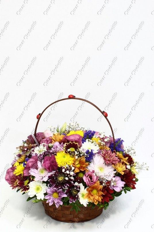 Herşeyim Sensin Çiçek Sepeti Kır Çiçek C-AR151
