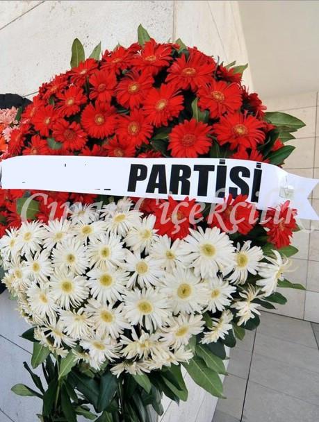 Özel Kırmızı Beyaz Cenaze Çelenği