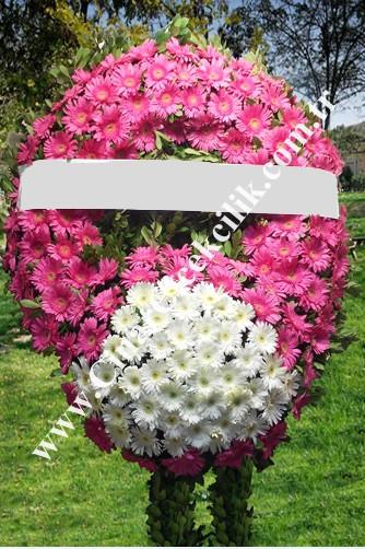 Pembe Beyaz Cenaze Merasim Çelengi