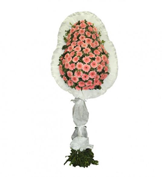 Tek Katlı Pembe Beyaz Düğün Açılış Nikah Çiçeği
