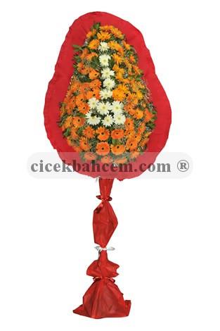 Tek Katlı Turuncu Beyaz Düğün Açılış Nikah Çiçeği