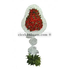 Tek Katlı Kırmızı Düğün Açılış Nikah Çiçekleri