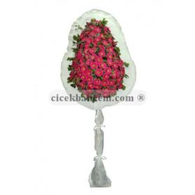 Tek Katlı Pembe Düğün Açılış Nikah Çiçeği