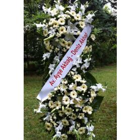 Beyaz Düğün & Nikah Ferforje Çiçekleri