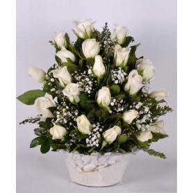 Aşkın Işıltısı 21 Beyaz Gül C-CAM134