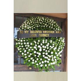 Huruz - Beyaz Gül Cenaze Çelengi