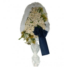 Tek Katlı Beyaz Düğün Açılış Nikah Çelenkleri