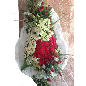 Tek Katlı Kırmızı Güllü Düğün Açılış Nikah Çiçeği
