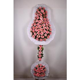 Düğün Açılış Nikah Çelenk Çiçekleri Pembe Beyaz