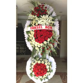 Düğün Açılış Nikah Çelenk Çiçekleri Kırmızı Gül
