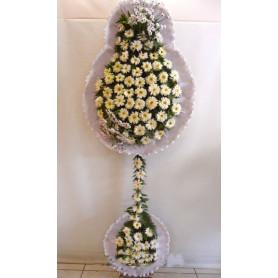 Düğün Acılış Nişan Çiçekleri Çift Katlı Beyaz