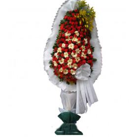 Tek Katlı Beyaz Kırmızı Düğün Nikah Çiçeği