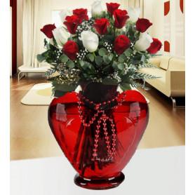 Aşk Şarıkısı 6 Beyaz 9 Kırmızı Gül C-KLP120