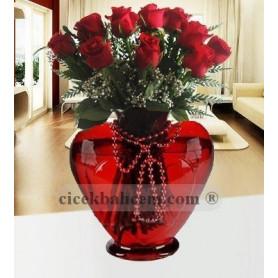 Biricik Aşk 9 Kırmızı Gül C-KLP108