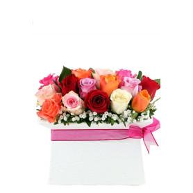 Güllerin Aşkı 15 Renkli Gül C-SER113