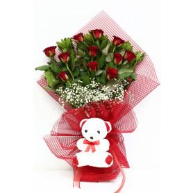 Aşkın Alevi Kırmızı Gül Buketi C-BUK133