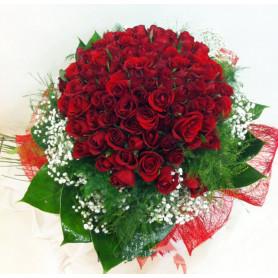 Biricik Aşkıma Kırmızı Gül Buketi C-BUK108