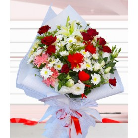 Kalbim Senin Karışık Çiçek Buketi C-BUK159