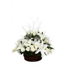 Bahar Kokulum Kokulu Lilyum Beyaz Gül C-AR153