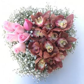 Samimiyet Pembe Gül & Orkide