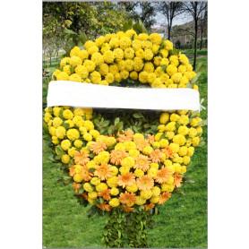 Sarı Çiçeklerle Cenaze Çelenği