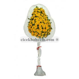 Tek Katlı Sarı Düğün Açılış Nikah Çelenk Çiçeği